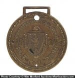 1914 Motorcycle Registration Watch Fob