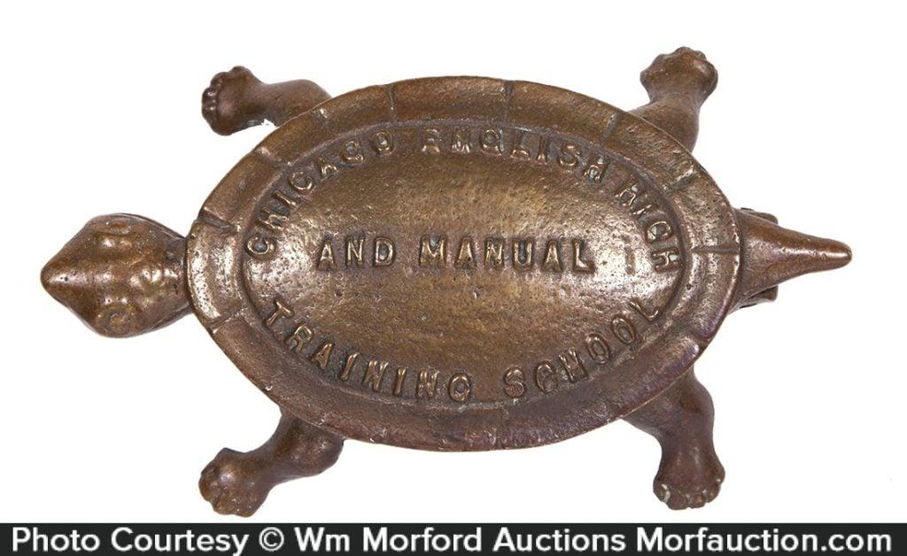Brass Turtle Match Holder