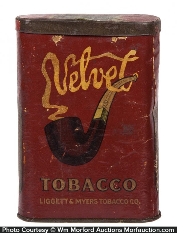 Velvet Cardboard Pocket Tobacco Tin