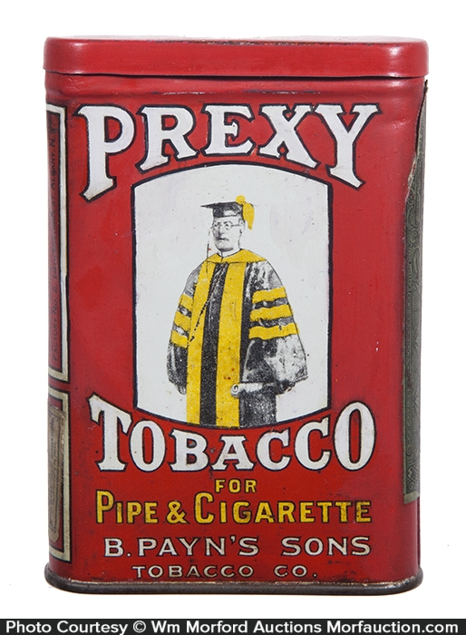 Prexy Pocket Tobacco Tin