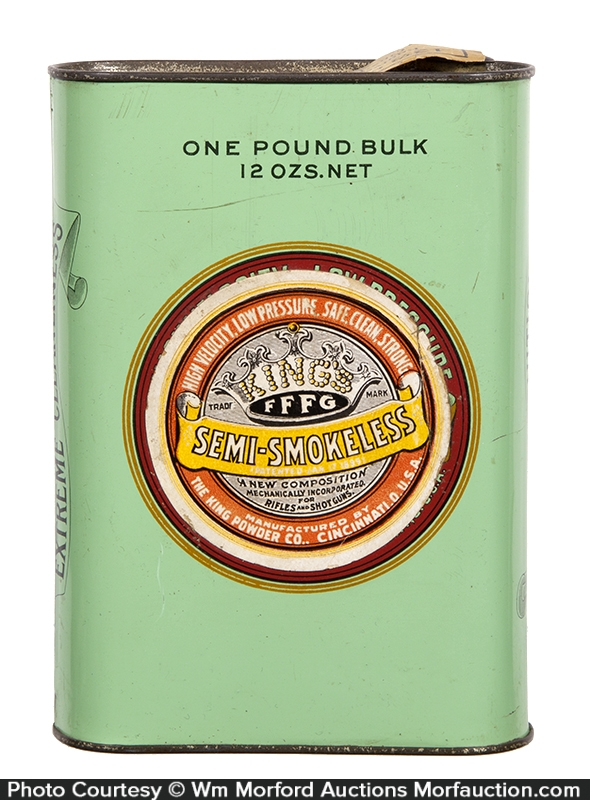King's FFFG Gunpowder Tin