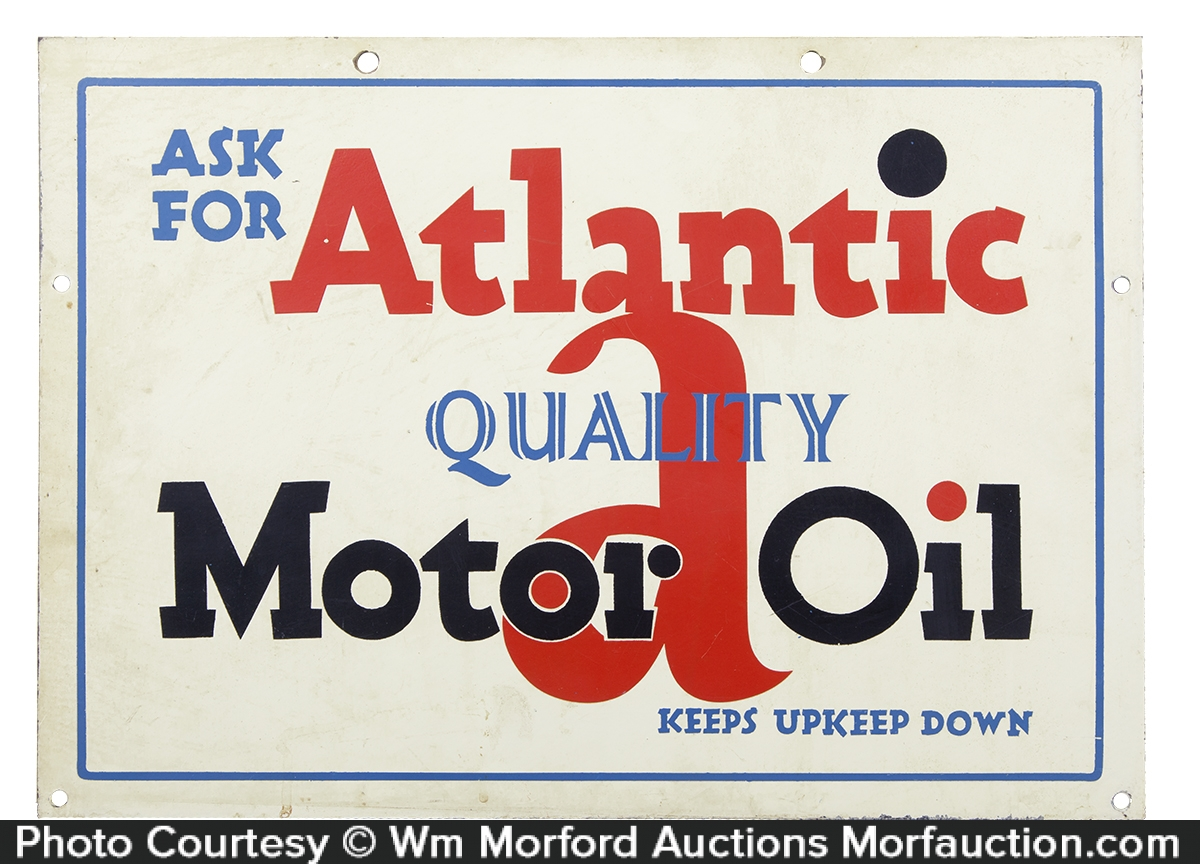 Atlantic Motor Oil Sign