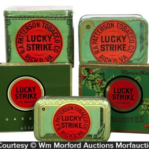 Vintage Lucky Strike Tobacco Tins