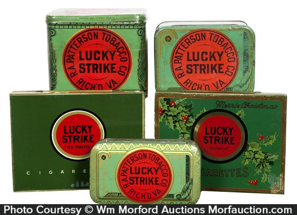 Vintage Lucky Strike Tobacco Tins