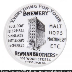 Newman Brother Brewery Supplier Paperweight