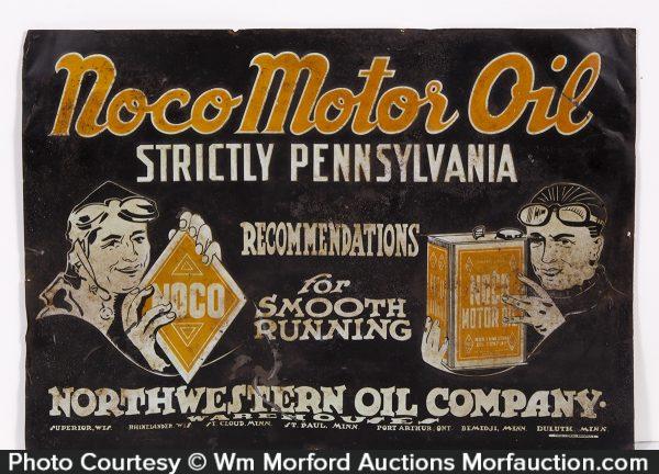 Noco Motor Oil Sign
