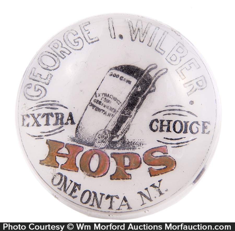 Wilber Oneonta Hops Paperweight