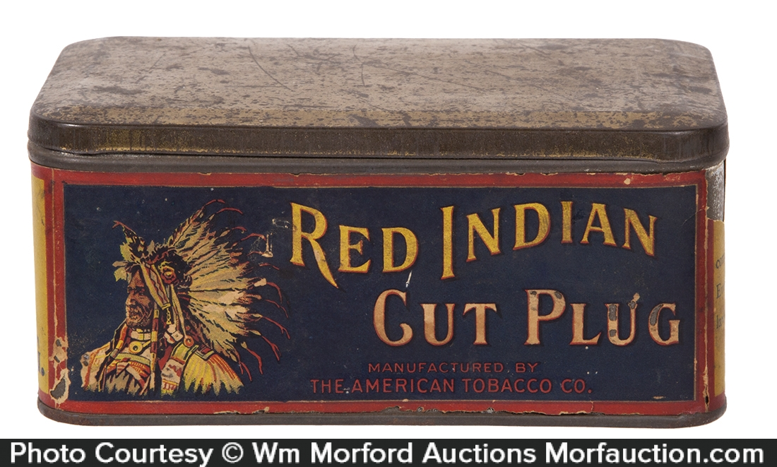 Red Indian Tobacco Tin