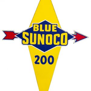Blue Sunoco Porcelain Sign