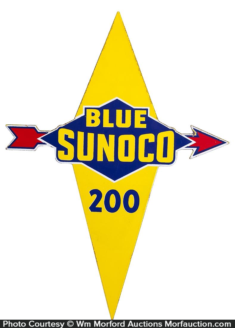 Blue Sunoco Porcelain Sign