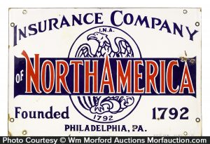 Insurance Company of North America Sign