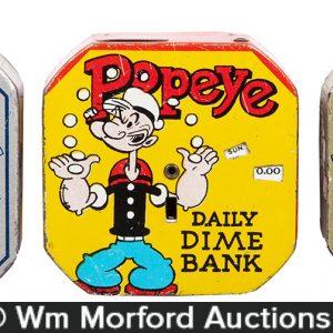 Popeye Dime Banks