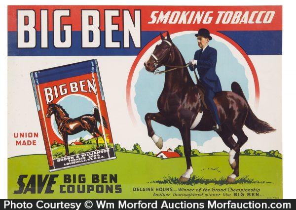 Big Ben Tobacco Sign