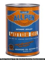 All Penn Motor Oil Can