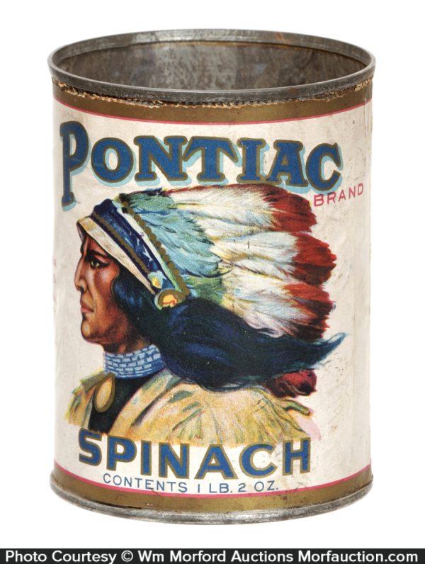 Pontiac Spinach Can