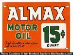 Almax Motor Oil Sign