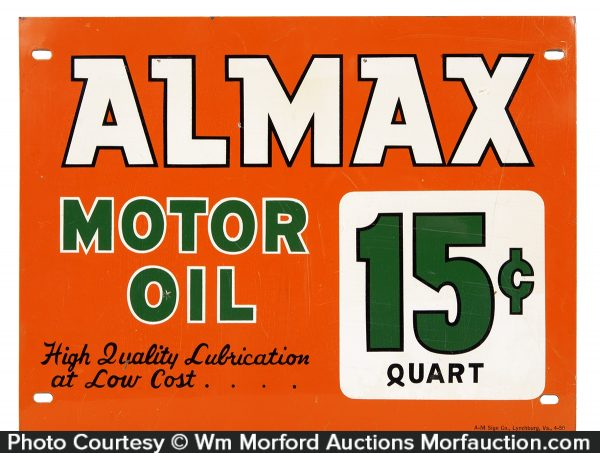Almax Motor Oil Sign