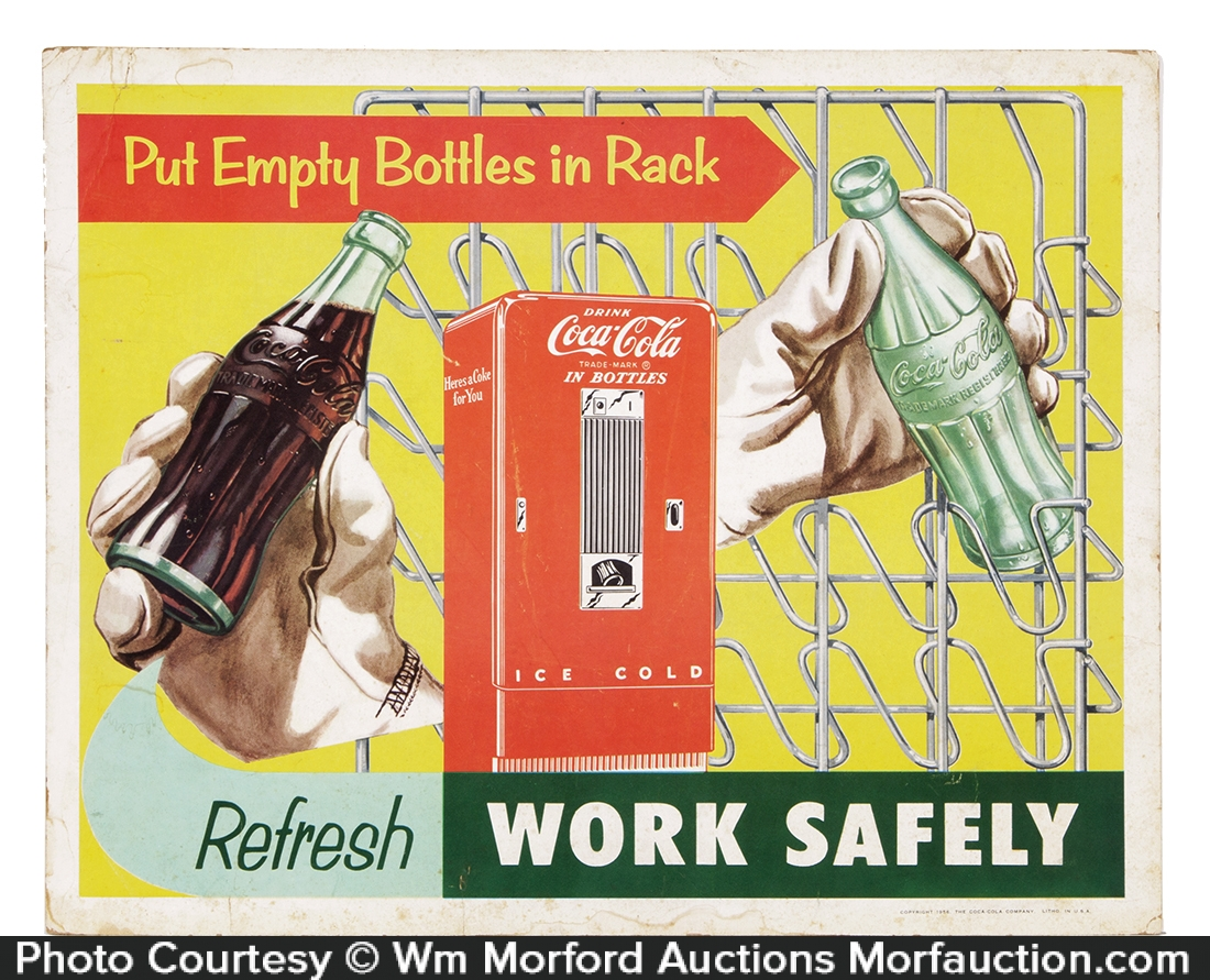 Coca-Cola Work Safely Sign