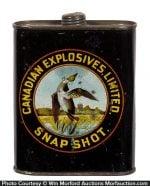 Canadian Explosives Snapshot Gunpowder Tin