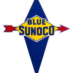 Blue Sunoco Gas Porcelain Sign