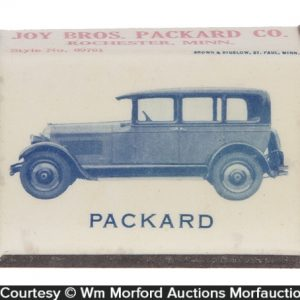 Packard and Studebaker Match Box Holder