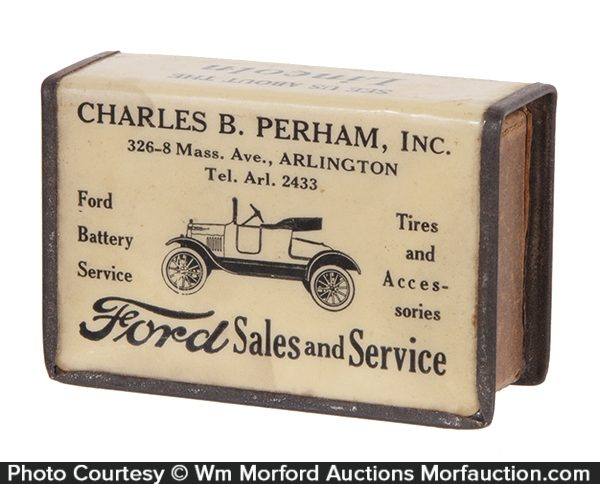 Ford Sales and Service Match Box Holder
