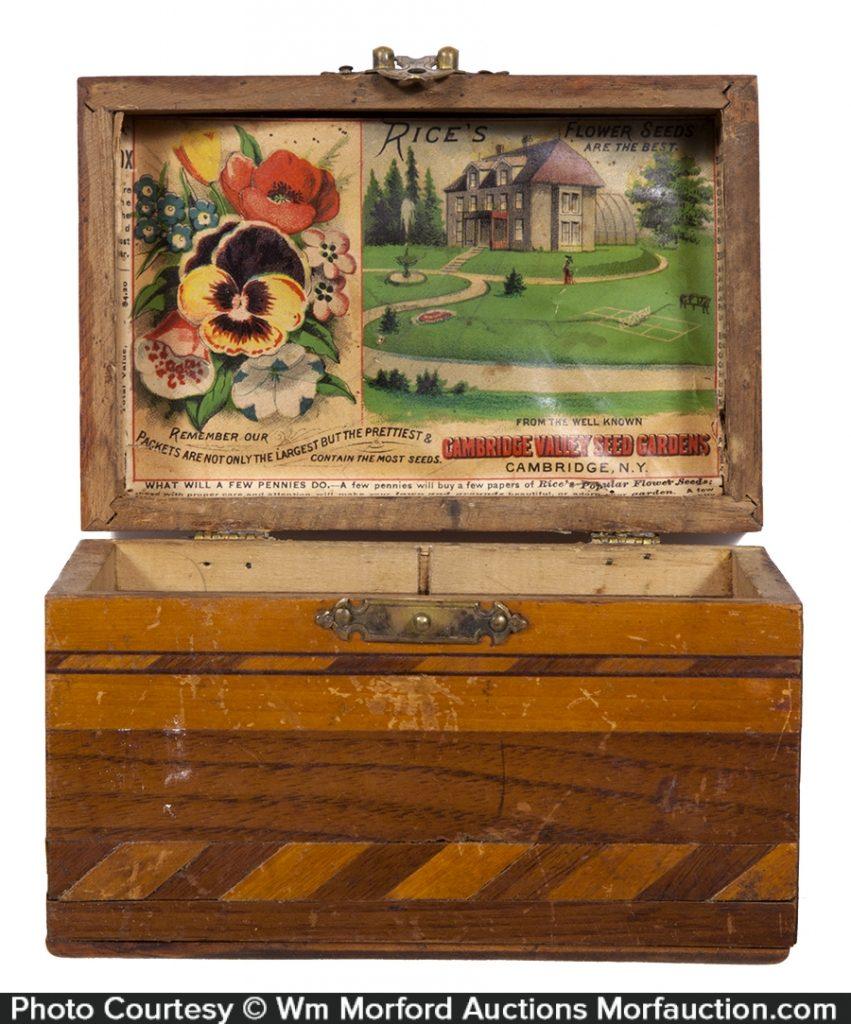 Cambridge Valley Rice's Flower Seeds Box