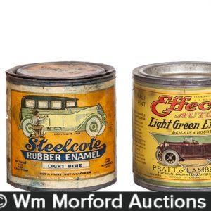 Vintage Auto Paint Cans