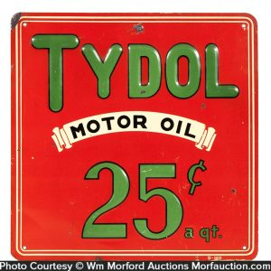 Tydol Motor Oil Sign