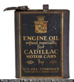 Cadillac Motor Oil Can
