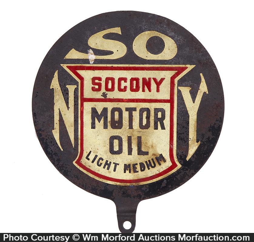 Socony Motor Oil Lubester Sign