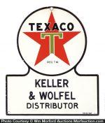 Porcelain Texaco Sign