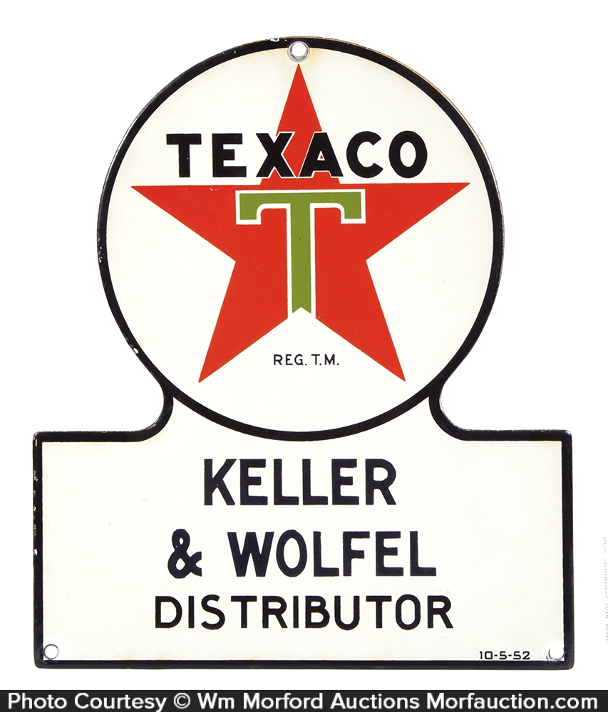 Porcelain Texaco Sign
