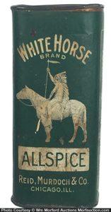 White Horse Spice Tin