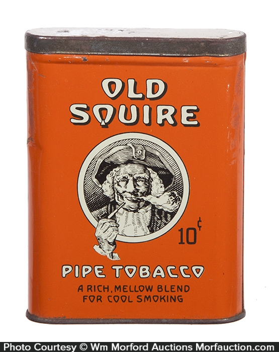 Old Squire Pocket Tobacco Tin