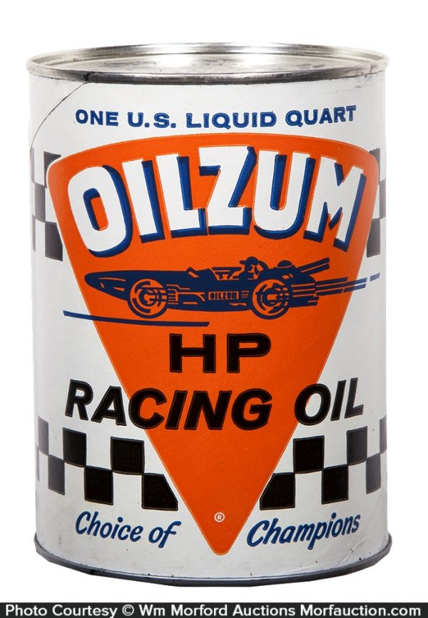 Oilzum Motorcycle Racing Oil Can