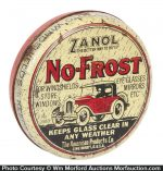 Zanol No-Frost Glass Treatment Tin
