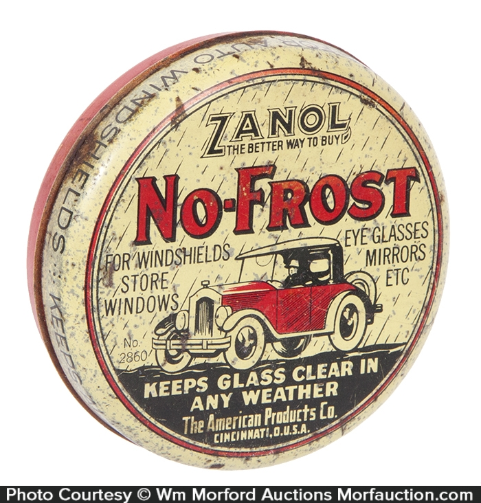 Zanol No-Frost Glass Treatment Tin