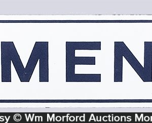 Men's Room Porcelain Sign