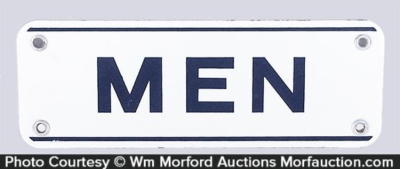 Men's Room Porcelain Sign