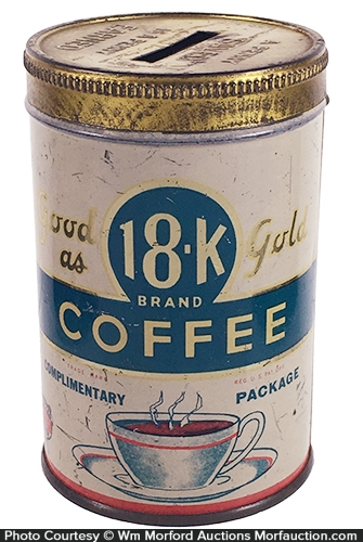 18K Coffee Sample/Bank