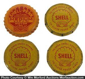 Shell Oil Bottle Caps