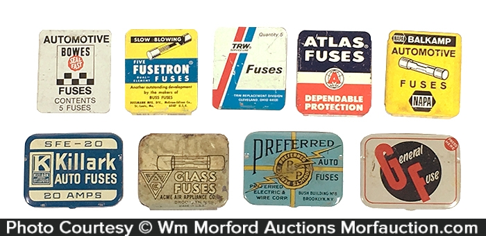 Antique Advertising | Vintage Auto Fuse Tins • Antique AdvertisingAntique Advertising
