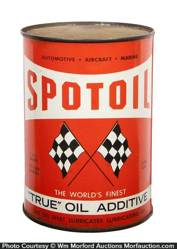 Spotoil Motor Oil Can