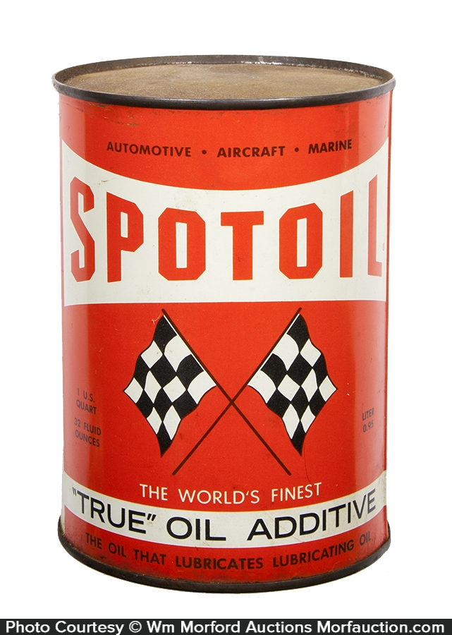 Spotoil Motor Oil Can