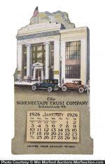 Schenectady Trust Stand-Up Calendar