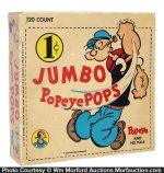 Jumbo Popeye Pops Candy Box