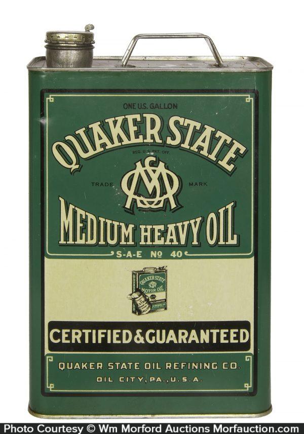 Quaker State 1 Gallon Oil Can