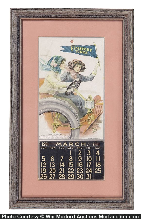 1911 Firestone Tires Calendar
