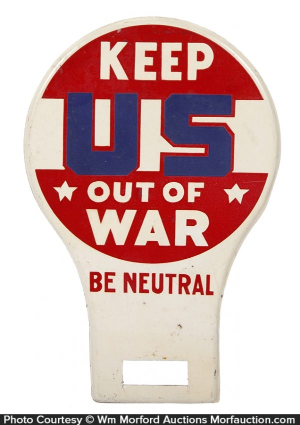 WWII Be Neutral Bumper Tag